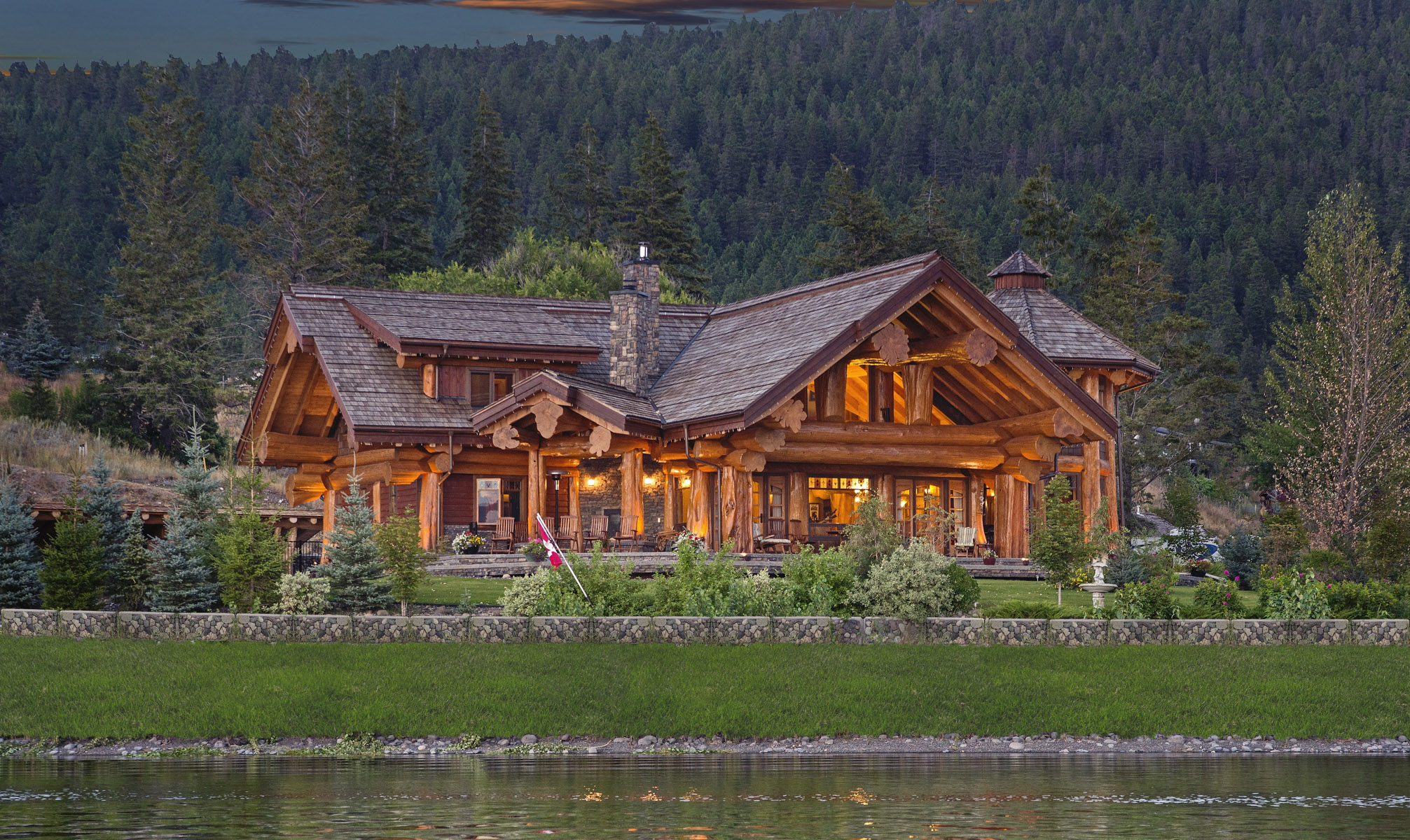 pioneer log homes of bc handcrafted log cabin plans and cedar log homes by pioneer log homes. Black Bedroom Furniture Sets. Home Design Ideas
